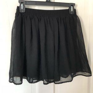 Forever 21 classic black skirt (small)